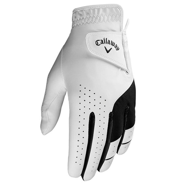 WHITE 'WEATHER SPANN' GOLF GLOVE - MEN