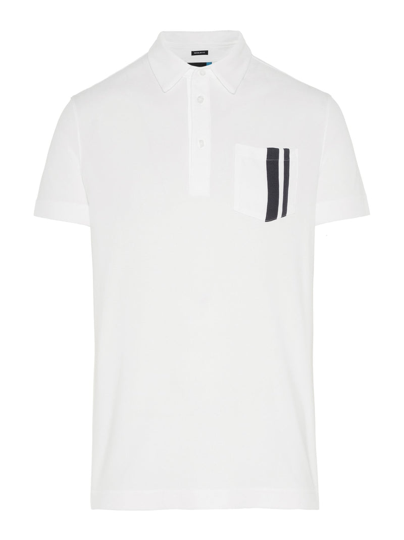 White OWEN Regular fit Short Sleeve Golf Polo  - Men's / SS19