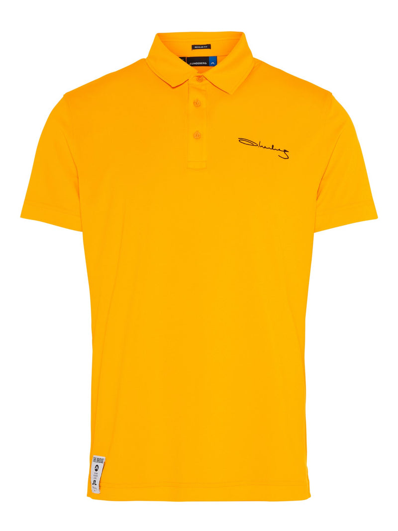 Warm Orange SIGNATURE KV Regular fit Golf Polo  - Men's / SS19