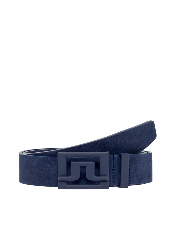 Navy Slater 40 Brushed Leather Belt  - Men's / SS19