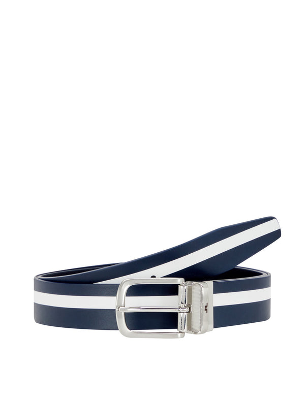 Navy Moriarty Crafted leather Belt  - Men's / SS19