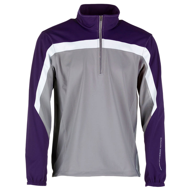 STEEL GREY/PLUM/WHITE BART HALF ZIP WINDSTOPPER - MEN / OUTLET