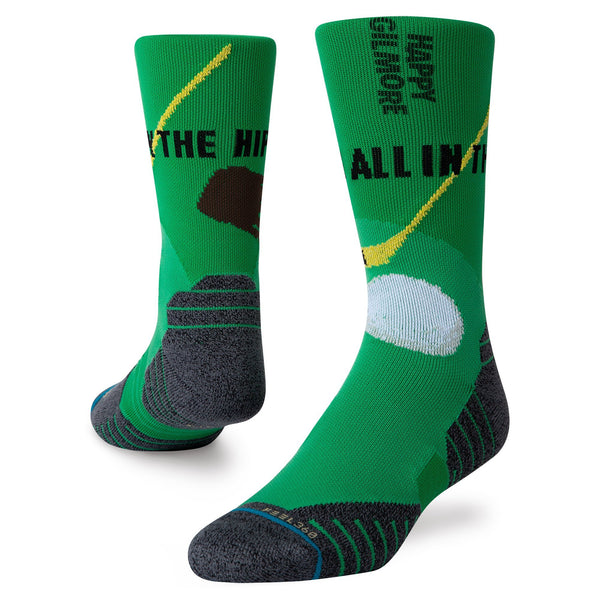 Green 'HAPPY HIPS' Crew Golf Sock - MEN