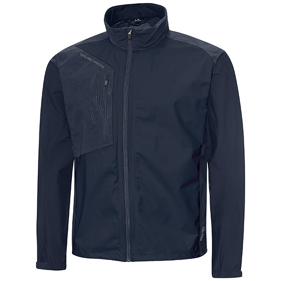 Navy 'ANDRES' GORE-TEX Paclite® Waterproof golf jacket - MEN / OUTLET
