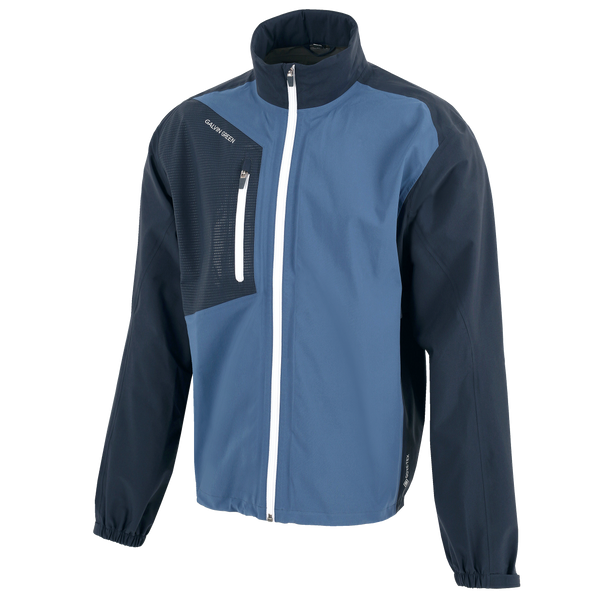Navy 'ANDRES' GORE-TEX Paclite® Waterproof golf jacket - MEN'S / AW19