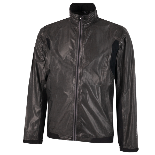 Ash Grey/Black 'ANGUS'  Waterproof GORE-TEX Golf Jacket  - MEN