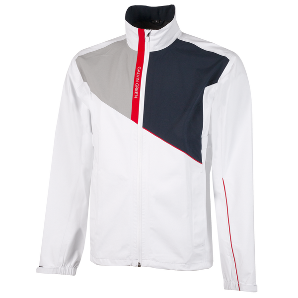 White 'APOLLO' WATERPROOF GORE-TEX GOLF JACKET - MEN