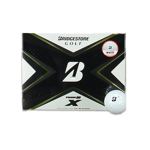 WHITE 'TOUR B X' GOLF BALLS - 12 PACK / 2020