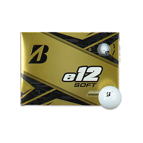 WHITE 'e12 SOFT' GOLF BALLS - 12 PACK / 2020