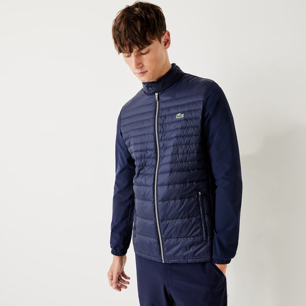 NAVY 'SPORT' Lightweight Water-Resistant Quilted Golf Jacket - MEN / AW20