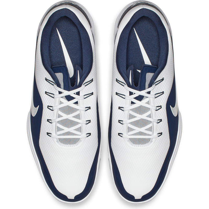 WHITE/METALLIC WHITE-MIDNIGHT NAVY NIKE REACT VAPOR 2 GOLF SHOE -  MEN / OUTLET