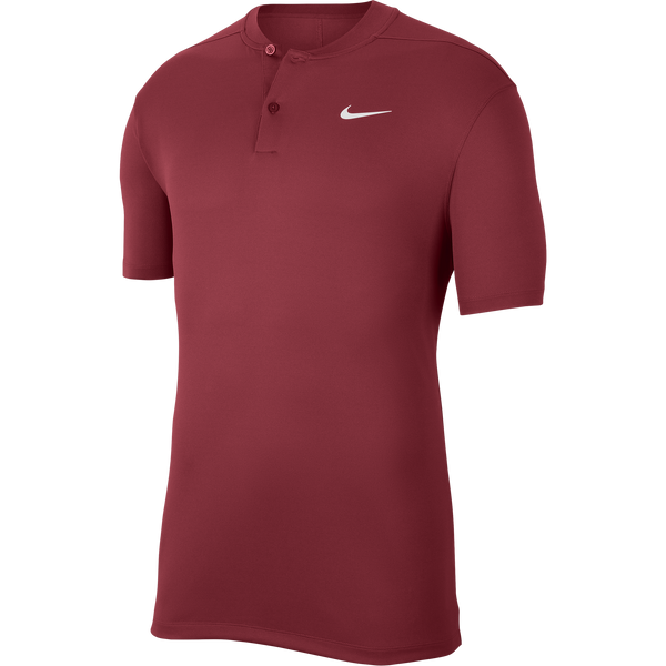Red 'Dri-FIT Victory' Golf Collarless Polo Shirt - MEN / SS20