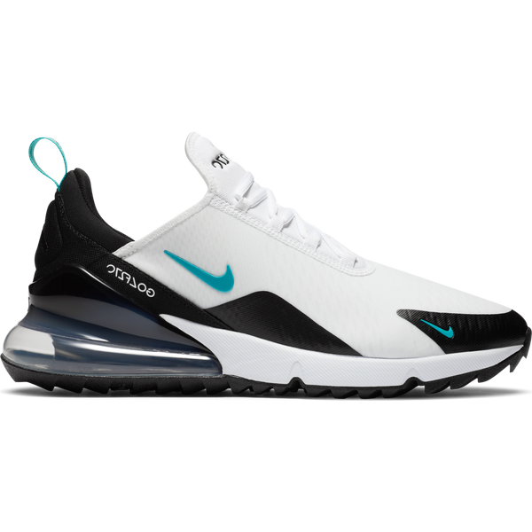 WHITE/DUSTY CACTUS-BLACK-METALLIC SILVER 'Nike Air Max 270 G' WATERPROOF GOLF SHOE - MEN / FW20