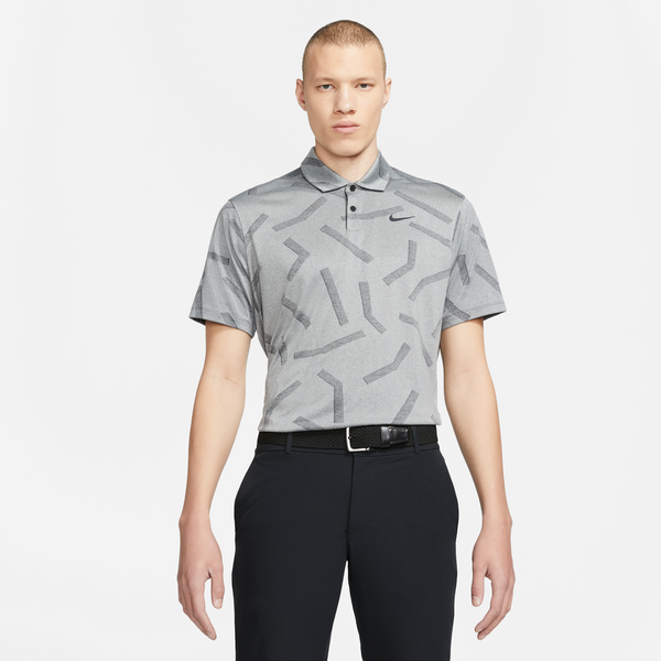 Grey 'Dri-FIT Vapor' Printed Polo - MEN