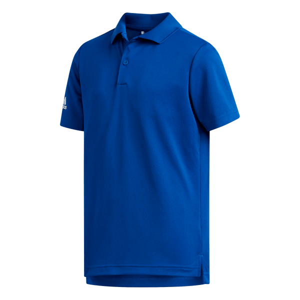 BLUE 'TOURNAMENT' GOLF POLO SHIRT - JUNIOR / SS20