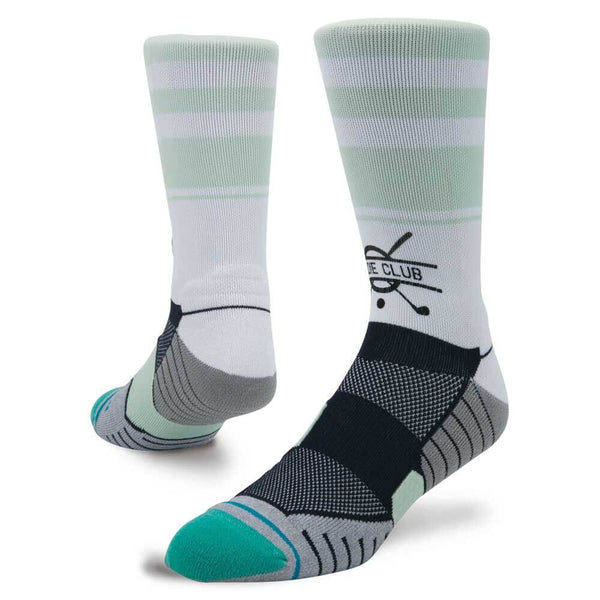 White 'BIRDIE CLUB' Crew Golf Sock - Men's / 2019