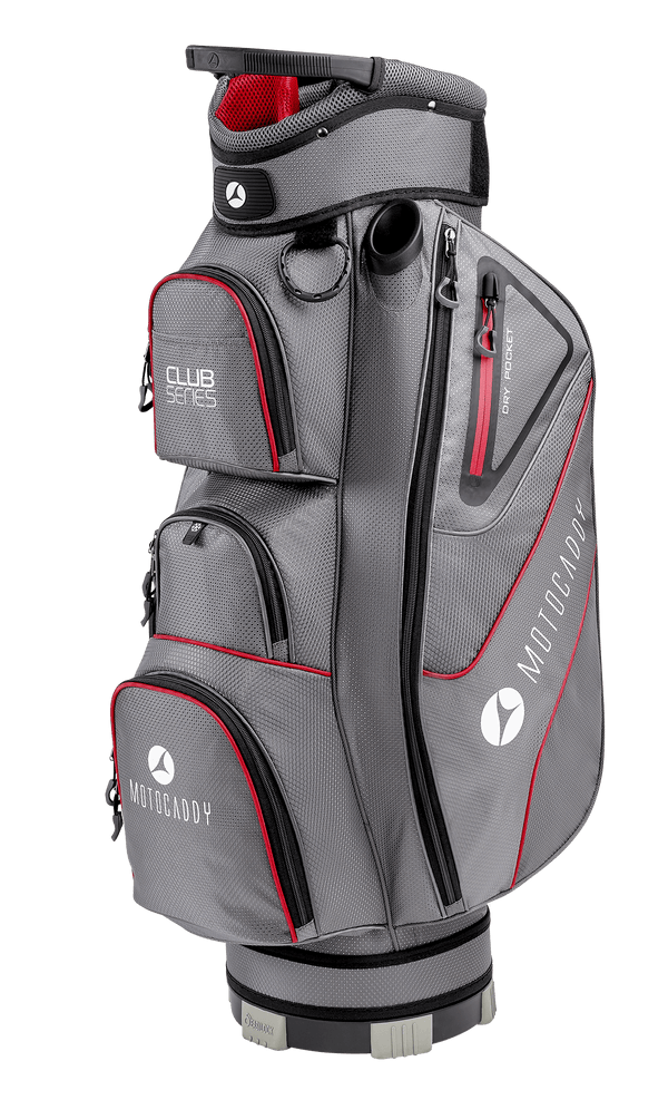 CHARCOAL/RED 'CLUB SERIES' GOLF CART BAG - 2021