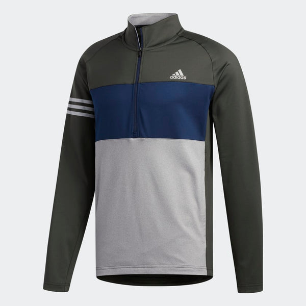 GREEN 'COMPETITION SWEATSHIRT' GOLF MID-LAYER - MEN / OUTLET