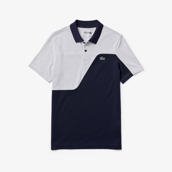 navy 'Sport' Two-Tone Breathable Piqué Golf Polo Shirt - MEN / AW20