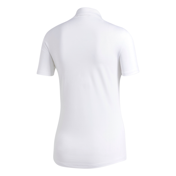 white MICRODOT SHORT SLEEVE GOLF POLO  - WOMEN / AW19