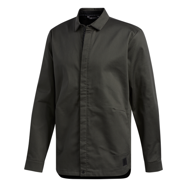 GREEN 'ADICROSS' shirt jacket - MEN / OUTLET