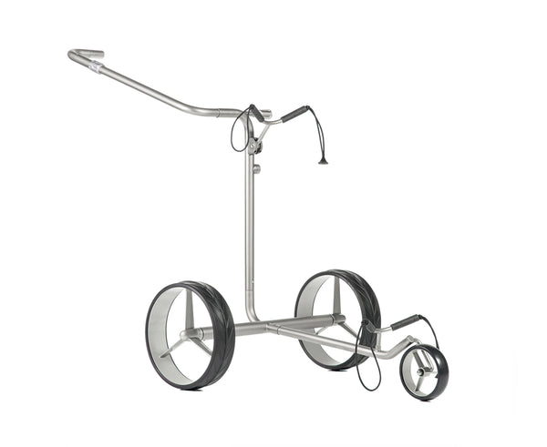 Lightweight 'DRIVE SL TRAVEL eX 2.0' TITANIUM 3-wheel electric Golf Trolley - CUSTOM / BESPOKE