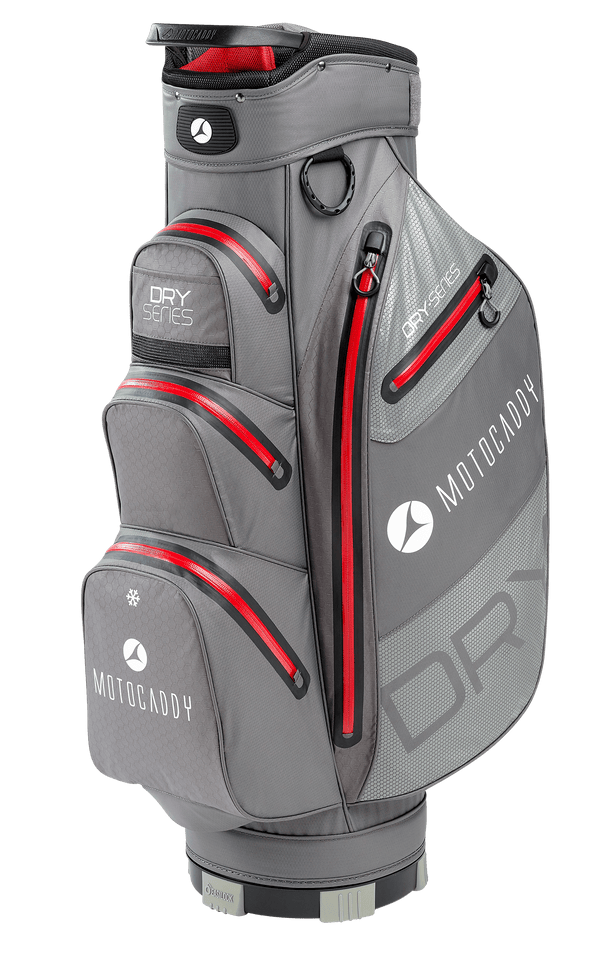 CHARCOAL/RED  'DRY SERIES' GOLF CART BAG - 2020