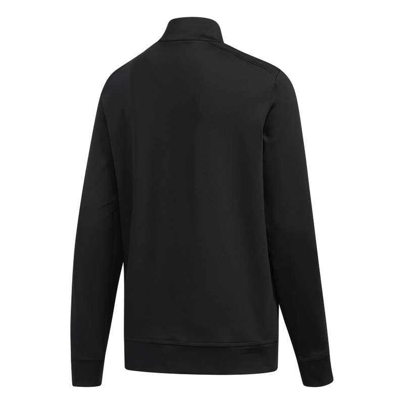 BLACK 'SOLID' HALF ZIP MID LAYER - MEN / SS20