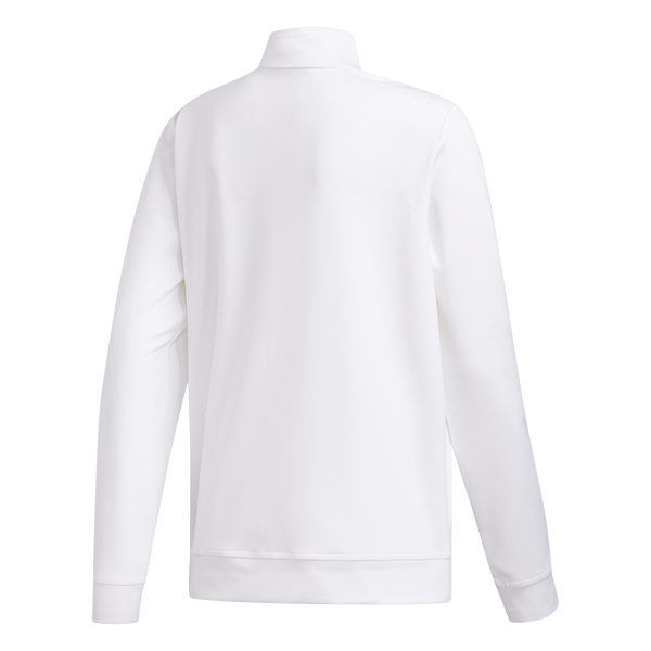 WHITE 'SOLID' HALF ZIP MID-LAYER - JUNIOR / SS20