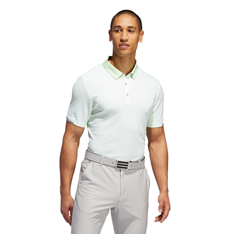 Glow Green/White climachill tonal stripe polo - MALE / AW19
