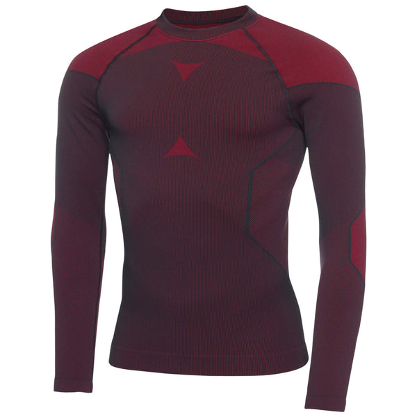 Black/Red Edgar SKINTIGHT™ Thermal seamless long sleeve, crew neck - MEN / OUTLET