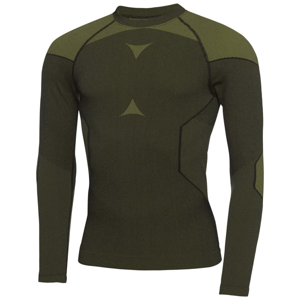 Black/Green Edgar SKINTIGHT™ Thermal seamless long sleeve, crew neck - MEN / OUTLET