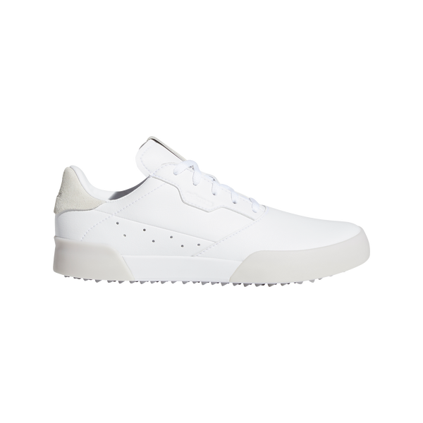 WHITE 'ADICROSS RETRO' WATERPROOF GOLF SHOE - JUNIOR / SS20