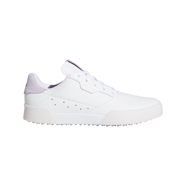 WHITE/PINK  'ADICROSS RETRO' WATERPROOF GOLF SHOE - JUNIOR / SS20