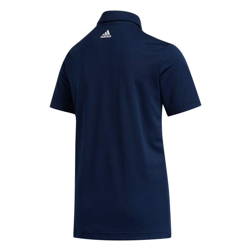 NAVY 'THREE STRIPE' GOLF POLO SHIRT - JUNIOR / SS20