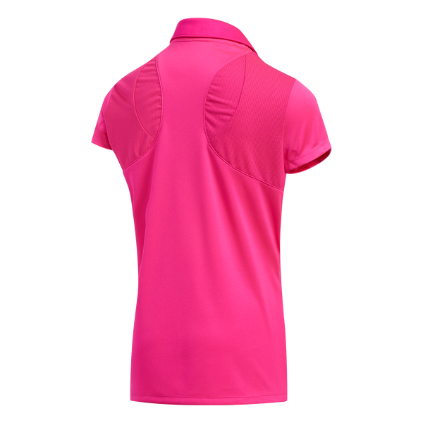 PINK 'SOLID FASHION' SHORT SLEEVE GOLF POLO - JUNIOR / SS20