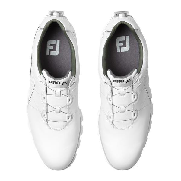 White PRO/SL  BOA Golf Shoe - Men / OUTLET