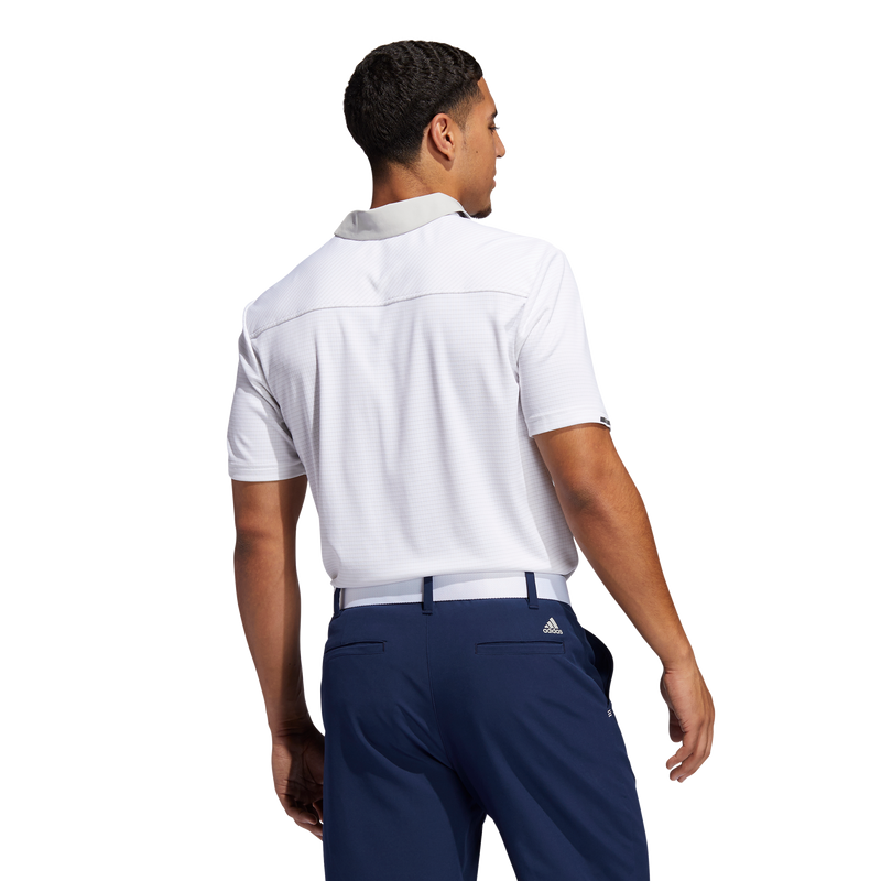 white 'HEAT RDY.' STRIPE  GOLF POLO SHIRT - MEN / SS20