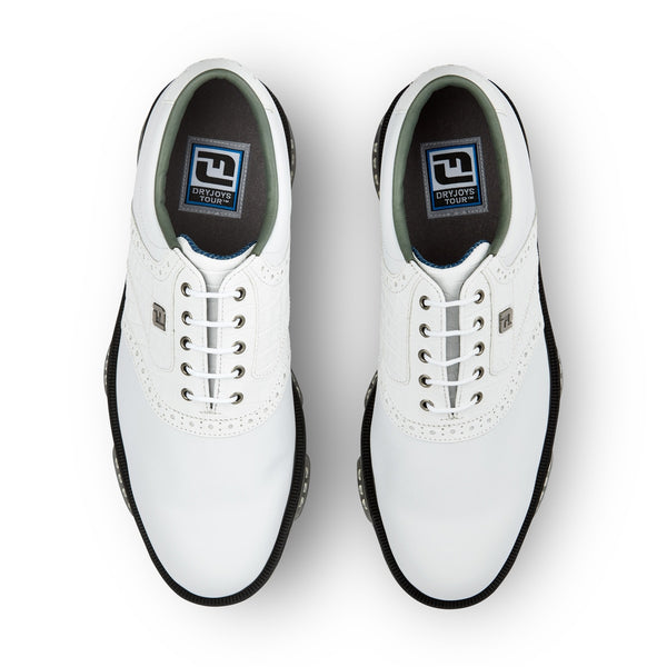 WHITE 'DRYJOYS TOUR' GOLF SHOE - MEN / SS20
