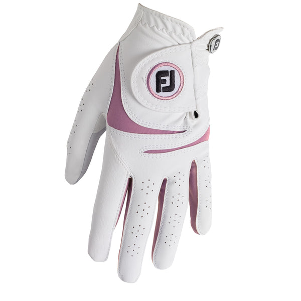 White/pink 'WEATHERSOF' Golf Glove  - WOMEN