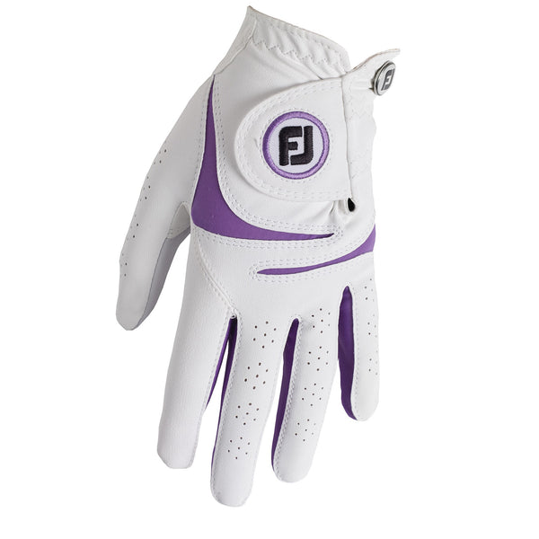 White/purple 'WEATHERSOF' Golf Glove  - WOMEN