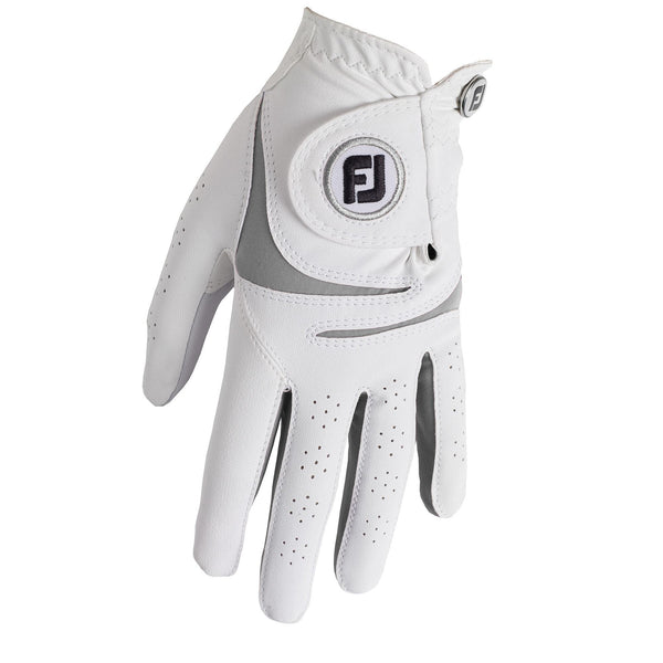 White/GREY 'WEATHERSOF' Golf Glove  - WOMEN