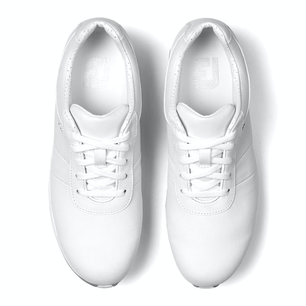 wHITE 'emBODY' GOLF SHOE - WOMEN / SS20