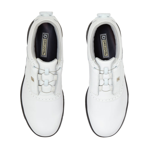 White 'Dry Joys' BOA Golf Shoe - WOMEN / SS20