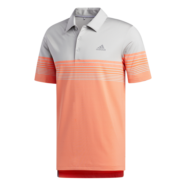 grey 'Ultimate Gradient Block Stripe' Golf Polo - MEN / OUTLET