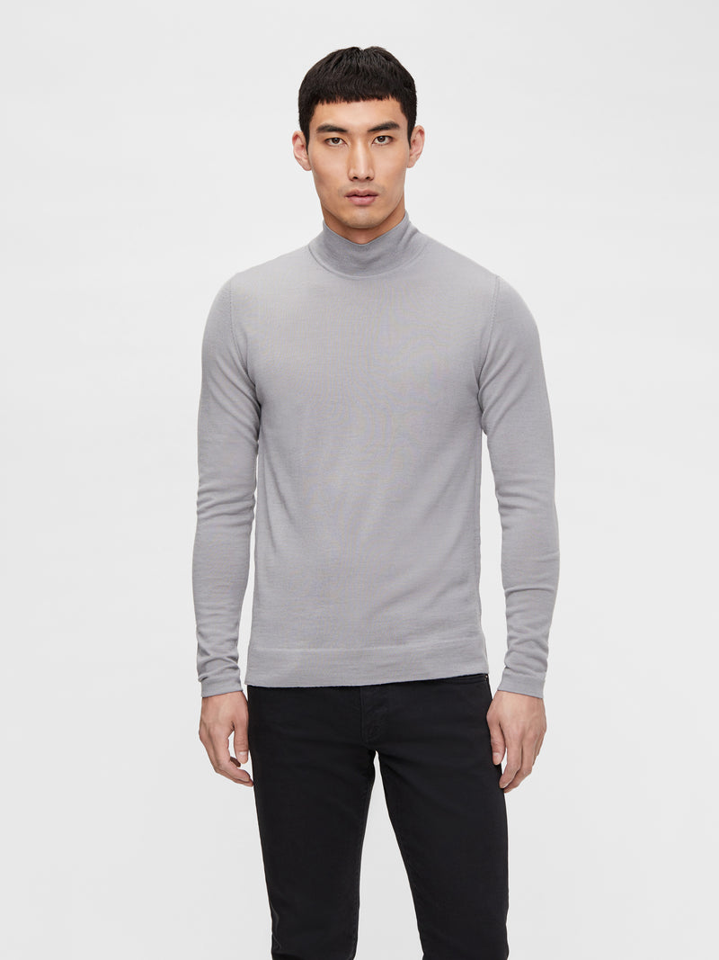 Grey 'Neal' Silk Wool Mix Turtle Neck Fine knit - MEN / AW20