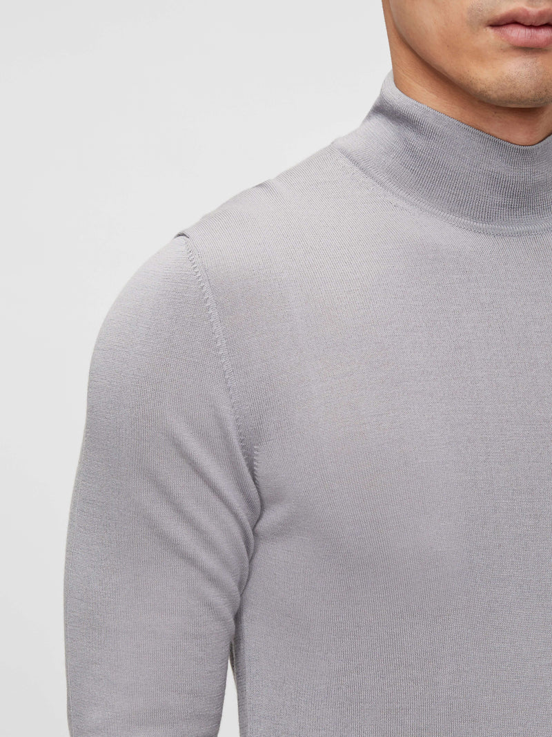 Black 'Neal' Silk Wool Mix Turtle Neck Fine knit - MEN / AW20