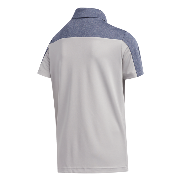 grey 'HEATHERED COLOuR BLOCKED' golf POLO - Junior / ss20