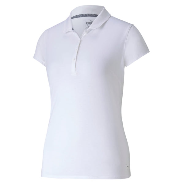 WHITE 'Fusion' Golf Polo - WOMEN / SS20