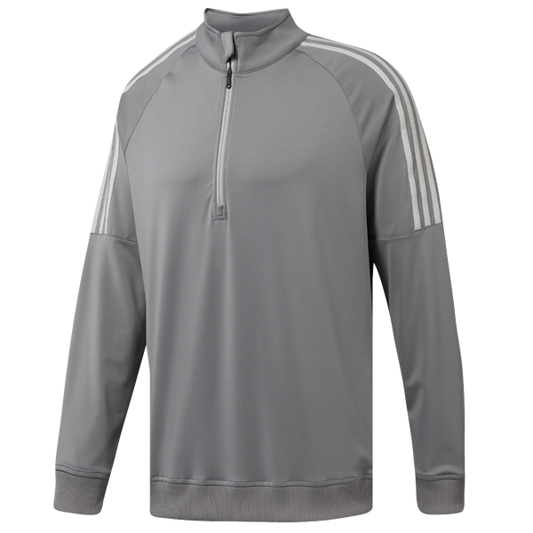 GREY 3-STRIPES 1/4 ZIP CF7615 - Men's / AW18